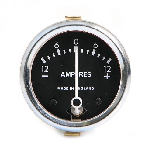 Ammeter 12-0-12 Black Dial image #1