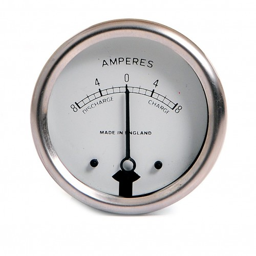 Ammeter 8-0-8 White Dial image #1