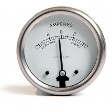 Ammeter 12-0-12 White Dial