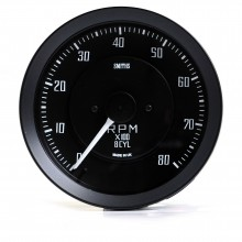 Smiths Classic GT40 100mm Tachometer - 0-8000 rpm