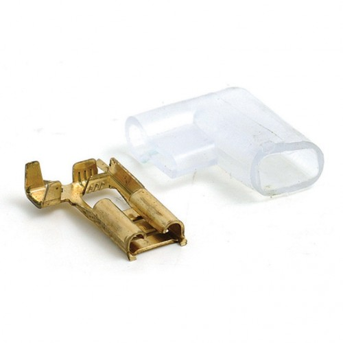 6.4mm Right Angled Lucar Connector and Cover - Pack of 5