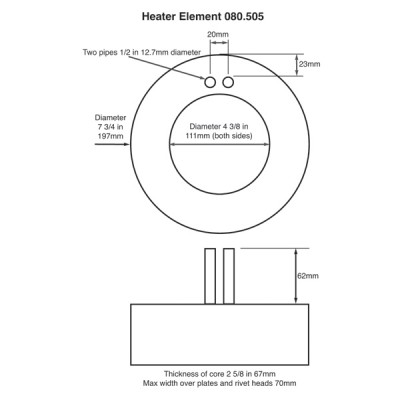 Heater Element without Motor Plate