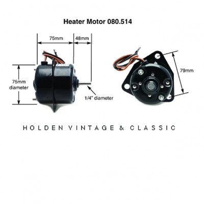 Clayton Heater Fan Motor Single Shaft 1/4 in