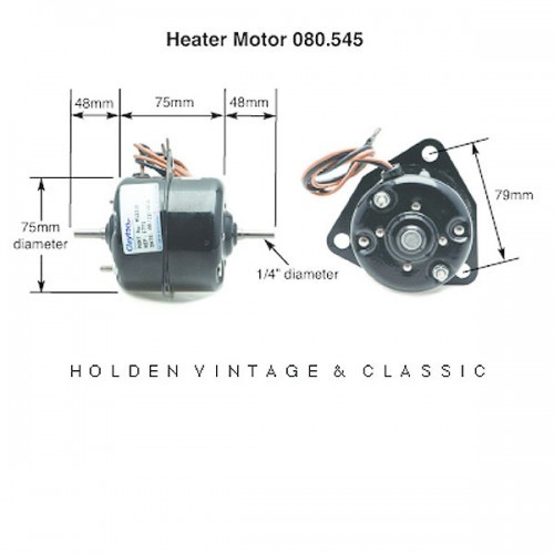 Clayton Heater Motor Double Ended Shaft 1/4 in image #1