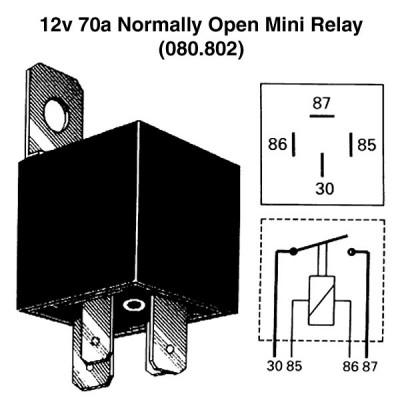 12v 70a Normally Open Mini Relay