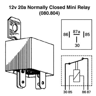 12v 20a Normally Closed Mini Relay