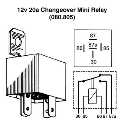 12v 20a Changeover Mini Relay