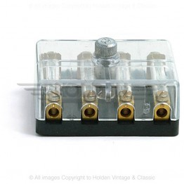 Fuse Box for 4 Continental Fuses with Clear Cover