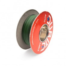 Wire 14/0.30mm Green/Black (per metre)