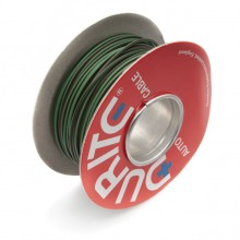 Wire 14/0.30mm Green/Brown (per metre)