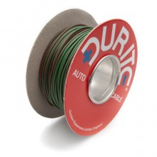 Wire 14/0.30mm Green/Red (per metre)