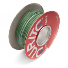 Wire 14/0.30mm Green/White (per metre)