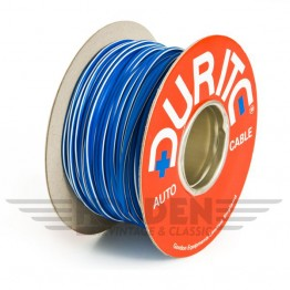 Wire 17 amps: 28/0.30mm Blue/White (per metre)