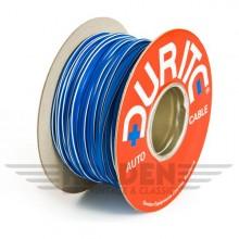 Wire 17 amps: 28/0.30mm Blue/White (per metre)