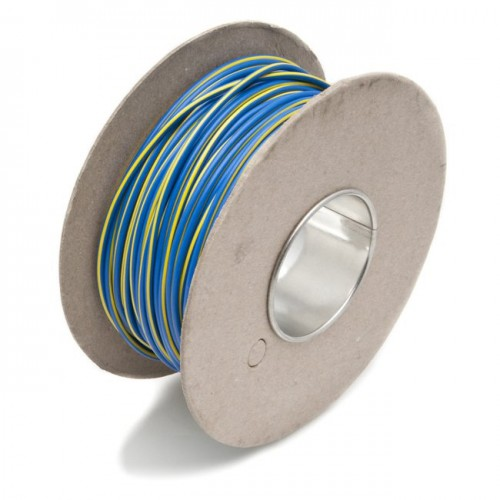 Wire 17 amps: 28/0.30mm Blue/Yellow (per metre) image #1