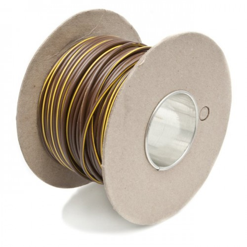 Wire 17 amps: 28/0.30mm Brown/Yellow (per metre) image #1
