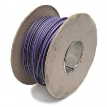 Wire 17 amps: 28/0.30mm Purple/Black (per metre)