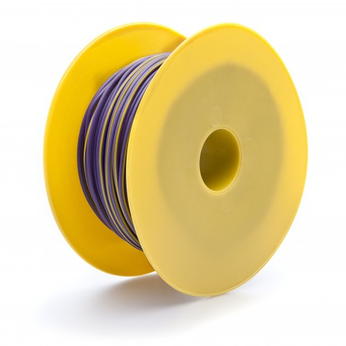 Wire 17 amps: 28/0.30mm Purple/Yellow (per metre) image #1