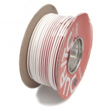 Wire 17 amps: 28/0.30mm White/Red (per metre)