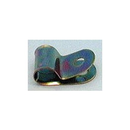 Zinc Plated Steel Cable Clip 9.5mm (5mm Fixing Hole)