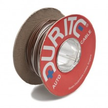 Wire 14/0.30mm Brown/White (per metre)