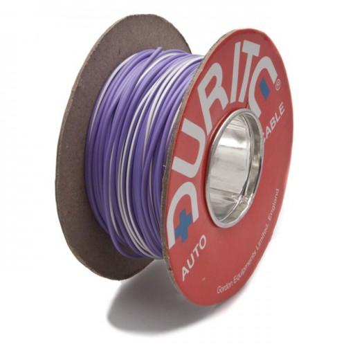 Wire 14/0.30mm Purple/White (per metre) image #1