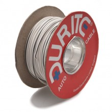 Wire 14/0.30mm White/Black (per metre)
