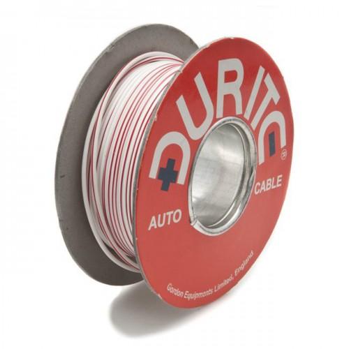 Wire 14/0.30mm White/Red (per metre) image #1