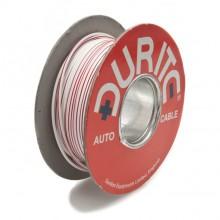 Wire 14/0.30mm White/Red (per metre)