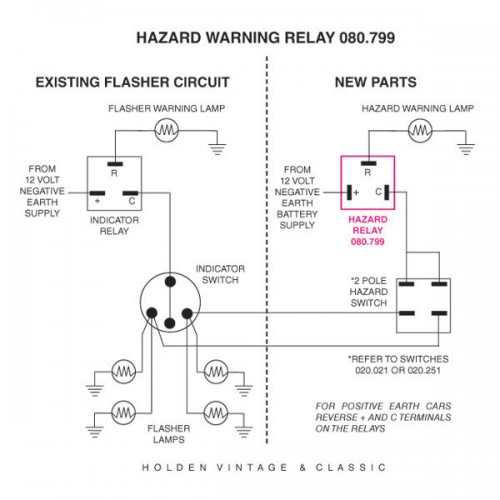 12 Volt Hazard    Flasher Relay