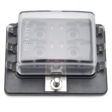 Fuse Box for 6 Blade Fuses with 'Fuse Blown' Indicator