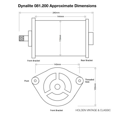 Dynalite to replace Lucas C39 & C40 Dynamo - Negative Earth