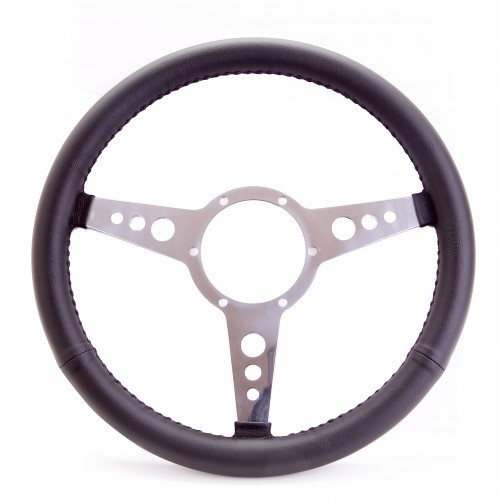 Traditional 15 Inch Leather Steering Wheel
