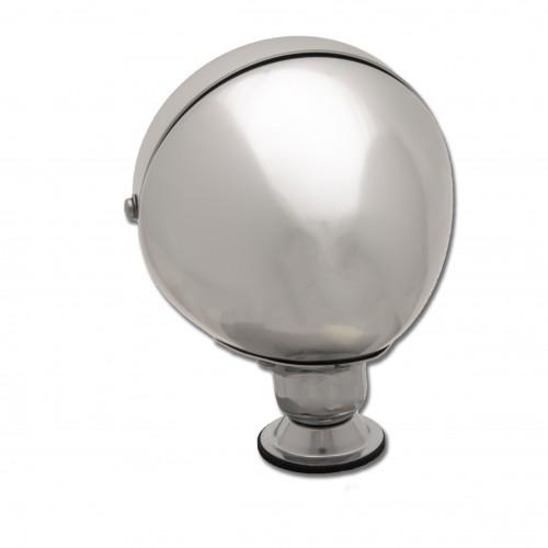 Raydyot Type Racing Mirror - Flat Glass - Polished Aluminium image #2