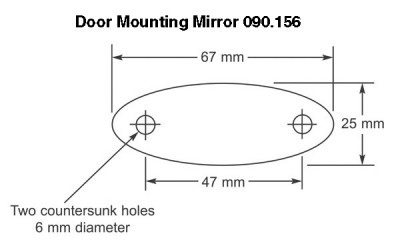 Door Mirror - Universal - Flat Glass