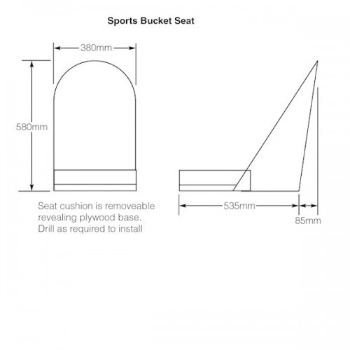 Sports Bucket Seat With Quilted Leather image #2