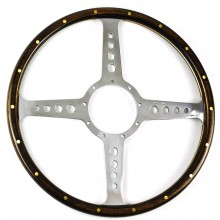 Moto Lita Classic Four Wood Rim 15in Steering Wheel