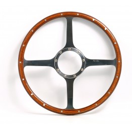 Classic 4 Spoke 16in Wood Rim Steering Wheel - Flat