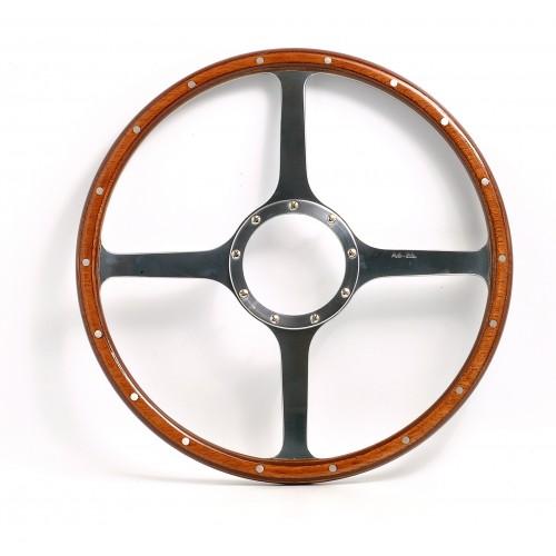 Classic 4 Spoke 16in Wood Rim Steering Wheel - Flat image #1
