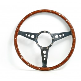 Mark 3 (Holes) 14in Wood Rim Steering Wheel - Flat