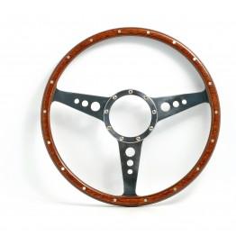 Mark 3 (Holes) 14in Wood Rim Steering Wheel - Flat