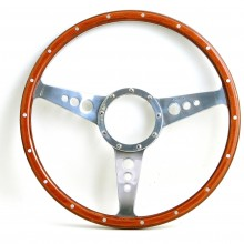 Mark 3 (Holes) 15in Wood Rim Steering Wheel - Dished