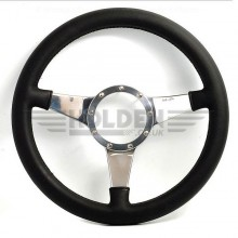Moto Lita Mark 4 Leather Rim Steering Wheel With Solid Spokes - 11 Inch Flat