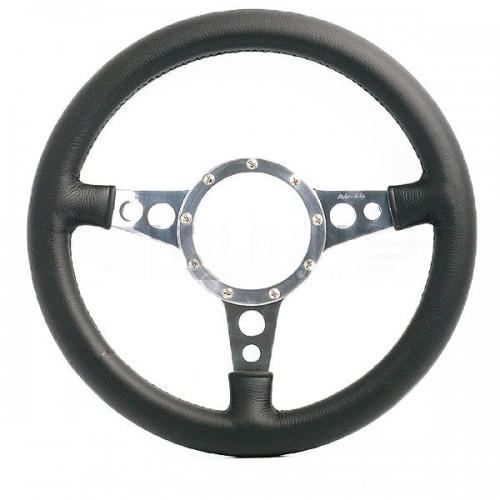 Mark 4 (Holes) Flat 13 in Leather Rim Steering Wheel image #1