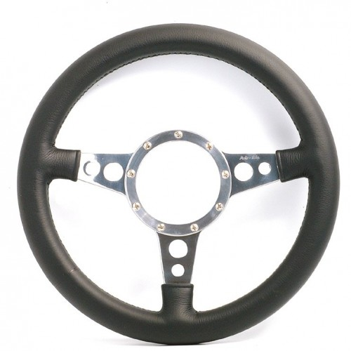 Mark 4 (Holes) Flat 14 in Leather Rim Steering Wheel image #1