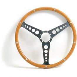 Jaguar 'D' Type 15in Wood Rim Steering Wheel