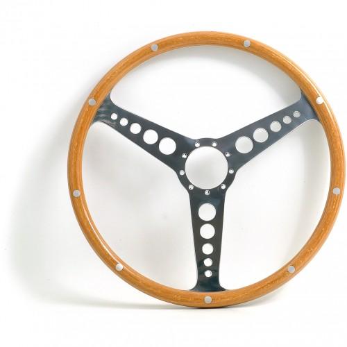 Jaguar 'D' Type 15in Wood Rim Steering Wheel image #1
