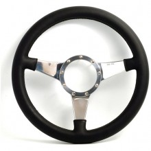 Moto Lita Mark 4 SVA Regulated Leather Rim Steering Wheel With Solid Spokes - 14 Inch Dished