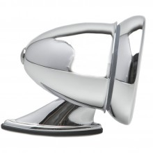 Chrome Racing Mirror - Flat Glass