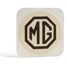 MG (Adhesive) Tax Disc Holder (Brown on Cream)